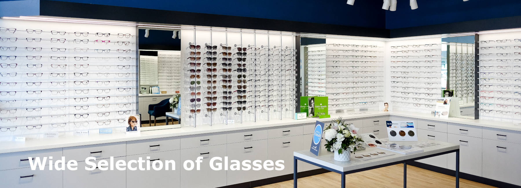 Wide Glasses Selection